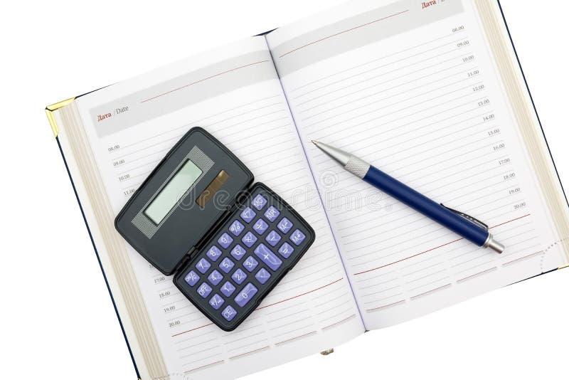 Υπολογιστής, μάνδρα και σημειωματάριο σε ένα λευκό στοκ φωτογραφία με δικαίωμα ελεύθερης χρήσης