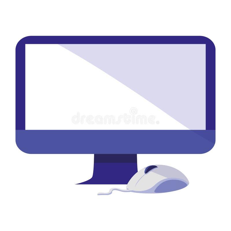 Υπολογιστής με το εικονίδιο ποντικιών ελεύθερη απεικόνιση δικαιώματος