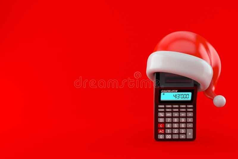 Υπολογιστής με το καπέλο santa απεικόνιση αποθεμάτων