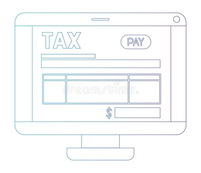 Υπολογιστής με το φόρο σε απευθείας σύνδεση ελεύθερη απεικόνιση δικαιώματος