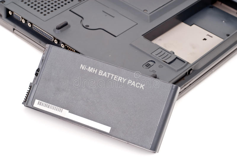 υπολογιστής μπαταριών στοκ εικόνες
