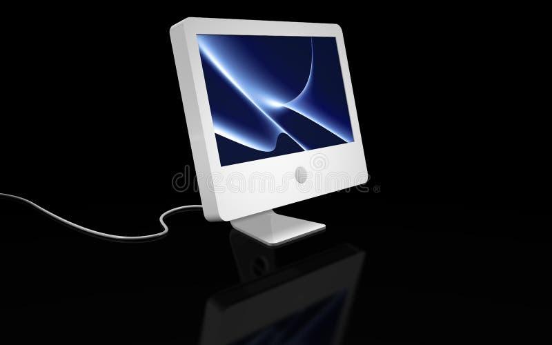 υπολογιστής οριζόντια άσπρος διανυσματική απεικόνιση