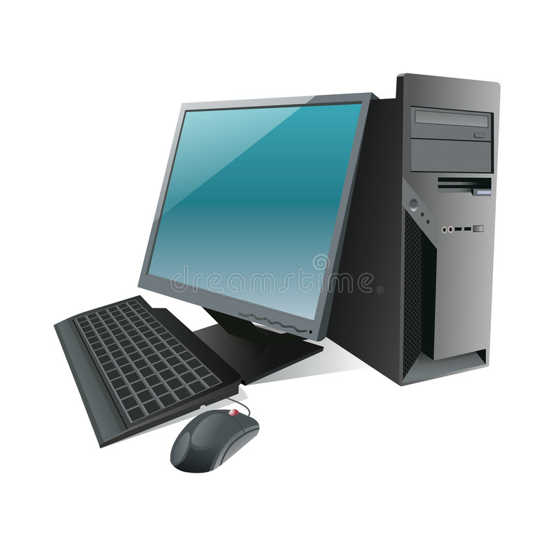 υπολογιστής που απομο απεικόνιση αποθεμάτων