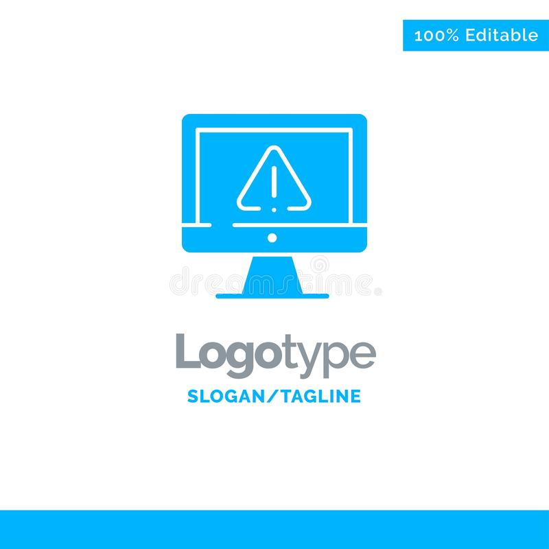 Υπολογιστής, στοιχεία, πληροφορίες, Διαδίκτυο, μπλε στερεό πρότυπο λογότυπων ασφάλειας r διανυσματική απεικόνιση