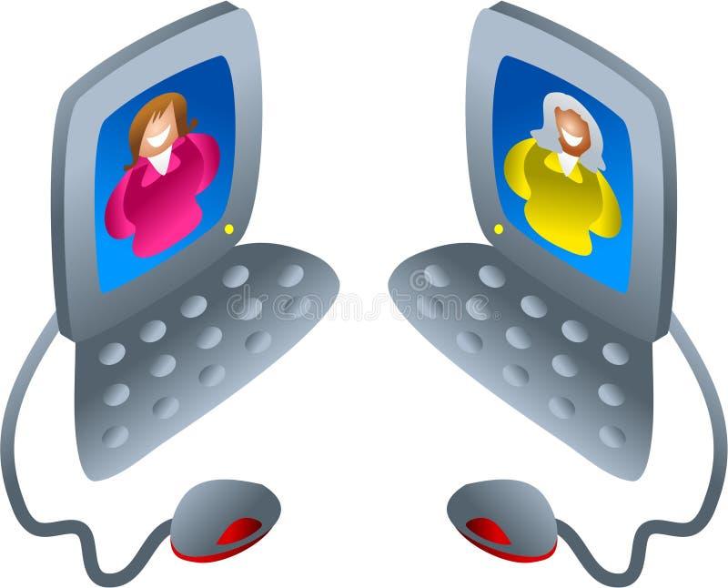 υπολογιστής συνομιλία& απεικόνιση αποθεμάτων