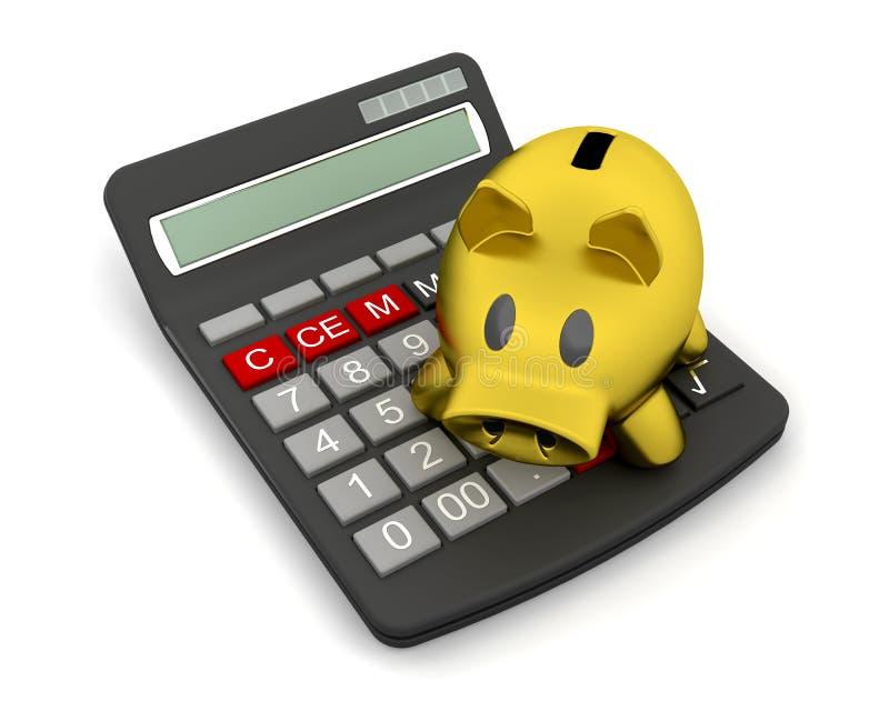 υπολογιστής τραπεζών piggy διανυσματική απεικόνιση