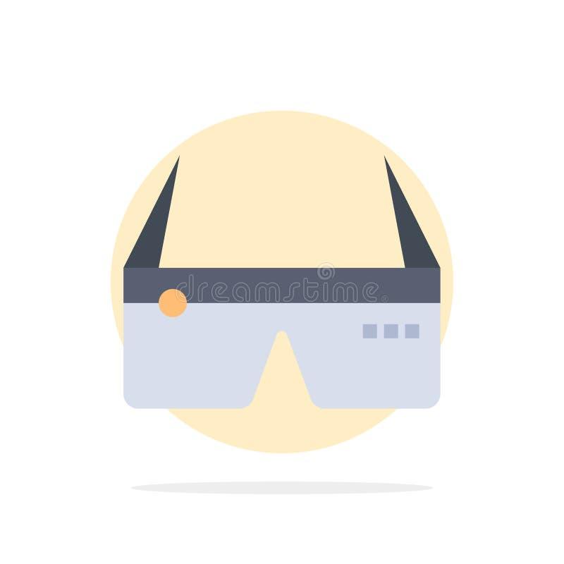 Υπολογιστής, υπολογισμός, ψηφιακός, γυαλιά, Google αφηρημένο κύκλων εικονίδιο χρώματος υποβάθρου επίπεδο διανυσματική απεικόνιση