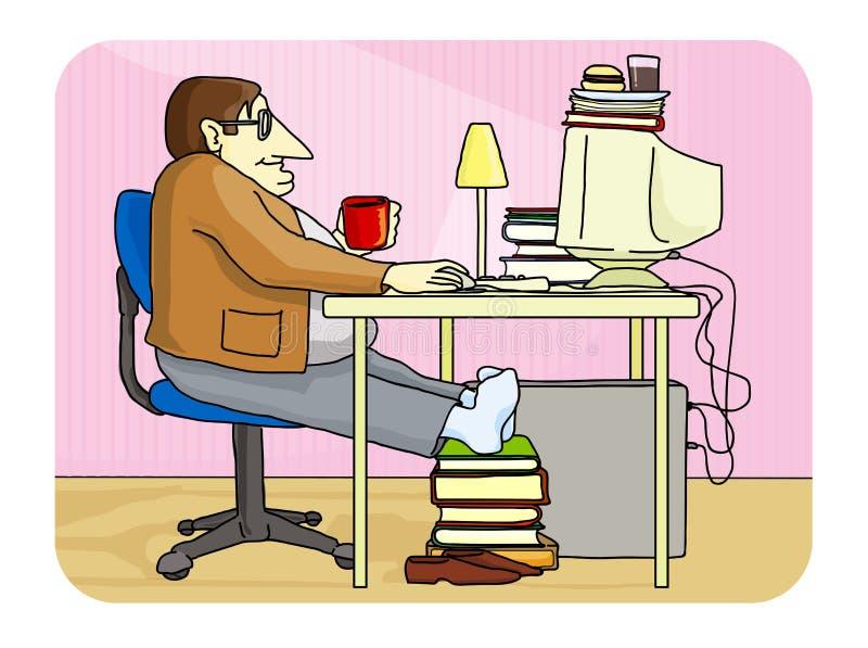 Download υπολογιστής φρικτός απεικόνιση αποθεμάτων. εικονογραφία από καφές - 2225755