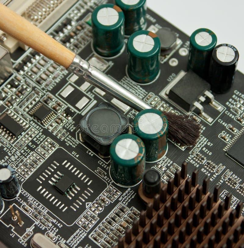υπολογιστής χαρτονιών ηλεκτρονικός στοκ εικόνες