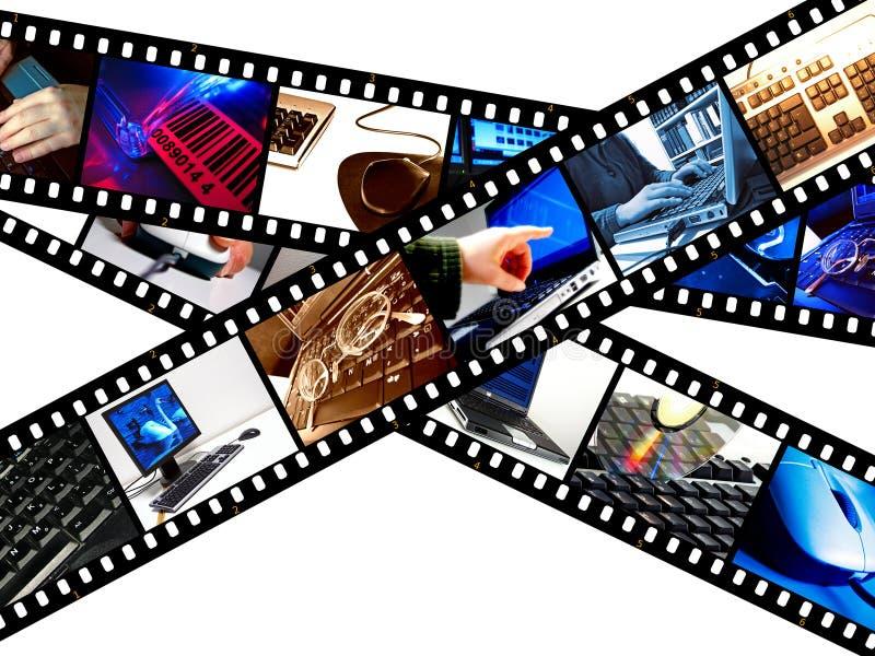 υπολογιστής filmstrip γραφικός διανυσματική απεικόνιση
