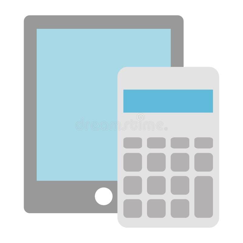 Υπολογιστής math με την ταμπλέτα ελεύθερη απεικόνιση δικαιώματος