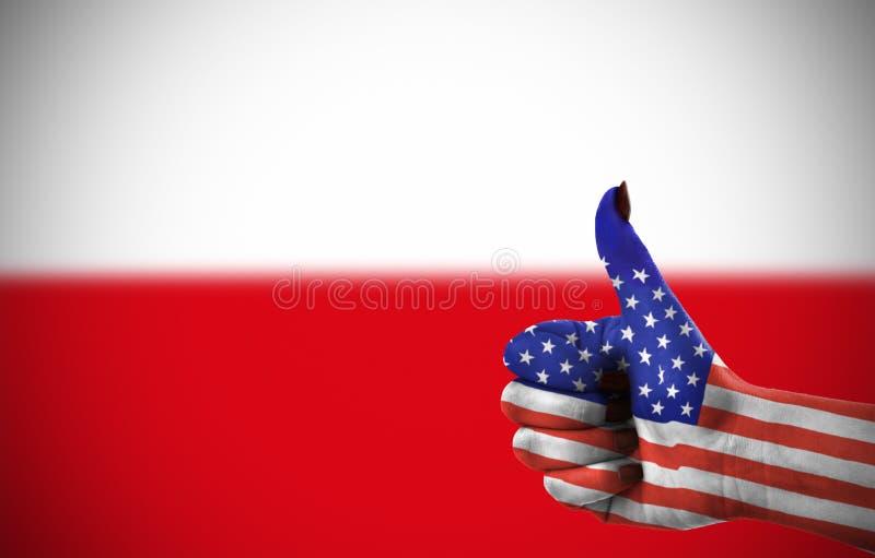 Υποστήριξη από τις Ηνωμένες Πολιτείες στοκ εικόνες