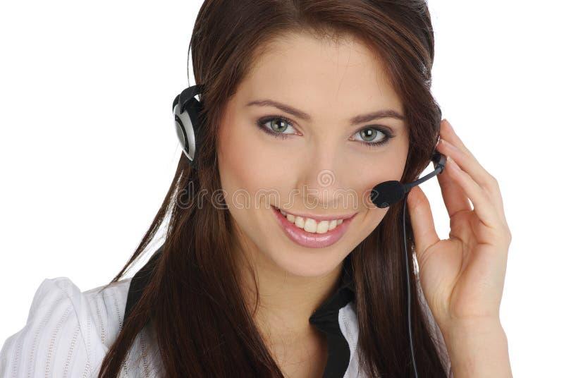 υποστήριξη κοριτσιών πελατών στοκ εικόνα