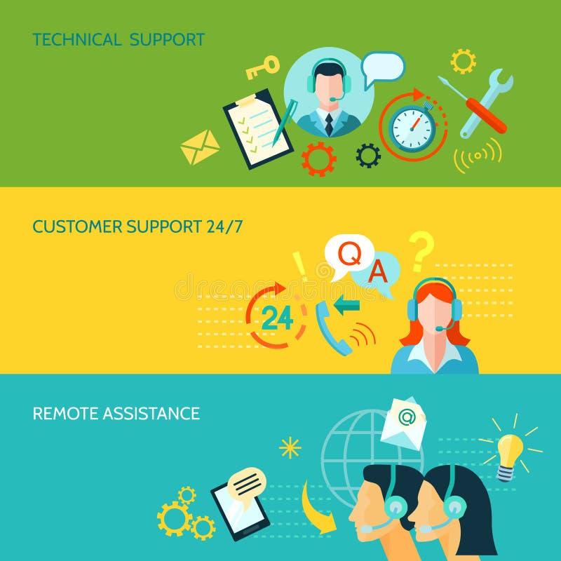 Υποστήριξη πελατών και τεχνική βοήθεια ελεύθερη απεικόνιση δικαιώματος