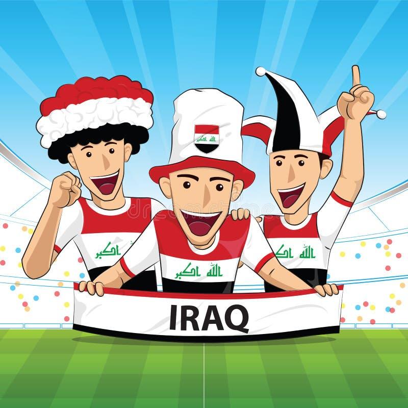 Υποστήριξη ποδοσφαίρου του Ιράκ ελεύθερη απεικόνιση δικαιώματος