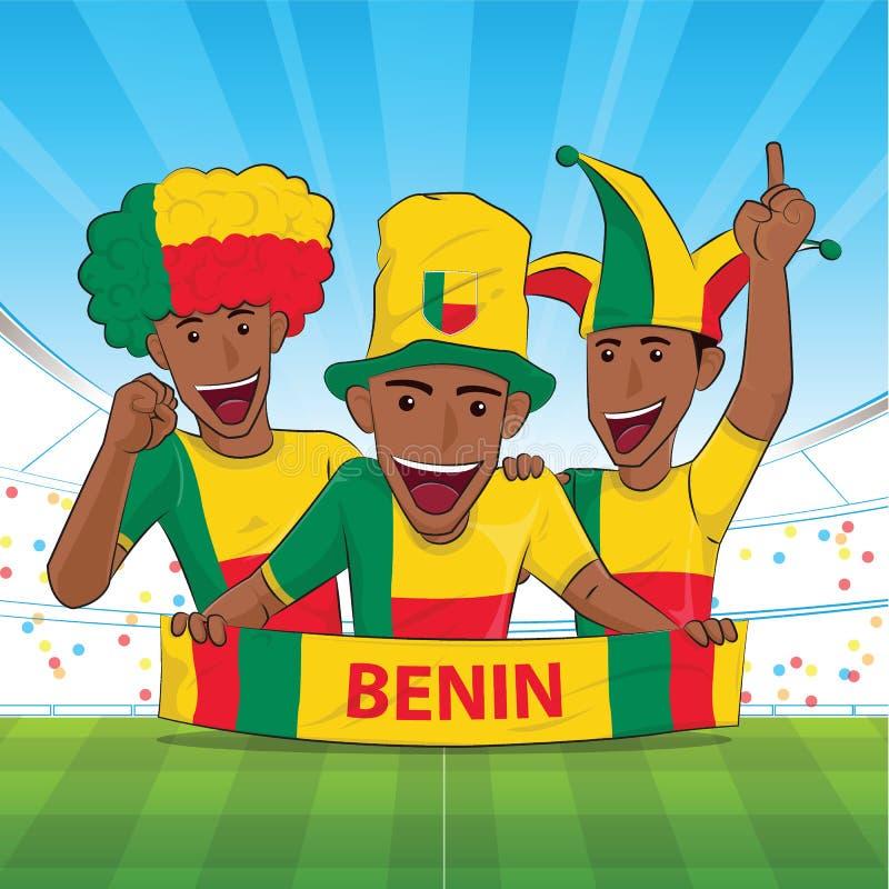 Υποστήριξη ποδοσφαίρου ποδοσφαίρου του Μπενίν ελεύθερη απεικόνιση δικαιώματος