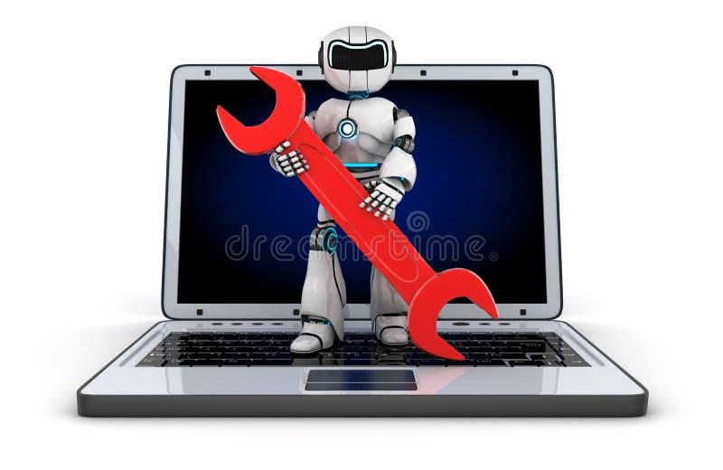 Υποστήριξη ρομπότ ελεύθερη απεικόνιση δικαιώματος
