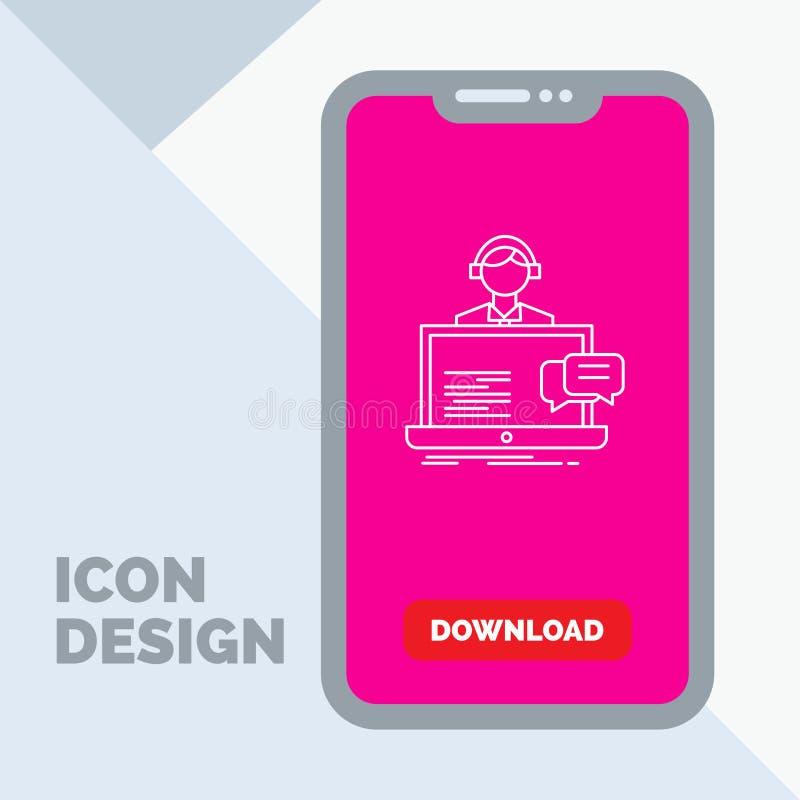υποστήριξη, συνομιλία, πελάτης, υπηρεσία, εικονίδιο γραμμών βοήθειας σε κινητό για Download τη σελίδα απεικόνιση αποθεμάτων