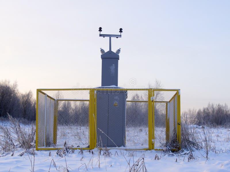 Υποσταθμός αερίου στοκ φωτογραφία με δικαίωμα ελεύθερης χρήσης