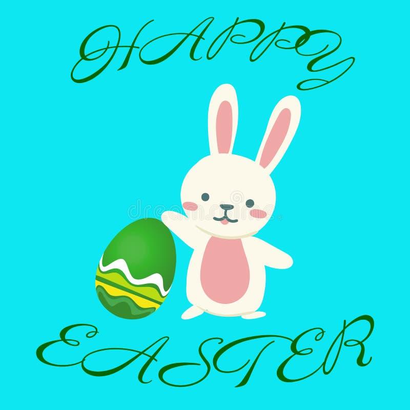 Υποστηρίξεις αυγών Πάσχας κουνελιών στάσεων απεικόνιση αποθεμάτων