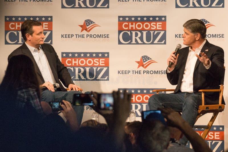 Υποστηρικτές φέρελπις πρόεδρος TED Cruz στοκ φωτογραφίες
