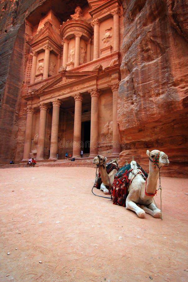 Υπουργείο Οικονομικών PETRA της Ιορδανίας στοκ εικόνες με δικαίωμα ελεύθερης χρήσης