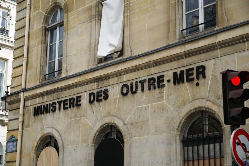 Υπουργείο υπερπόντιας Γαλλίας στοκ φωτογραφία με δικαίωμα ελεύθερης χρήσης