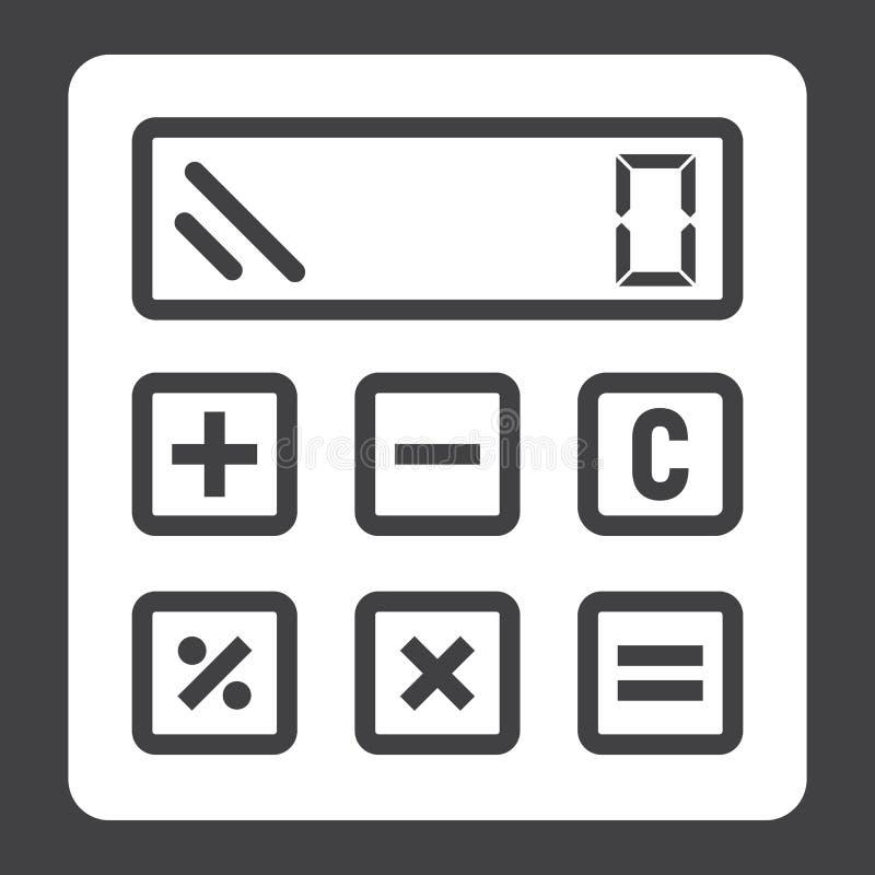 Υπολογίστε το στερεούς εικονίδιο, την επιχείρηση και τον υπολογιστή απεικόνιση αποθεμάτων