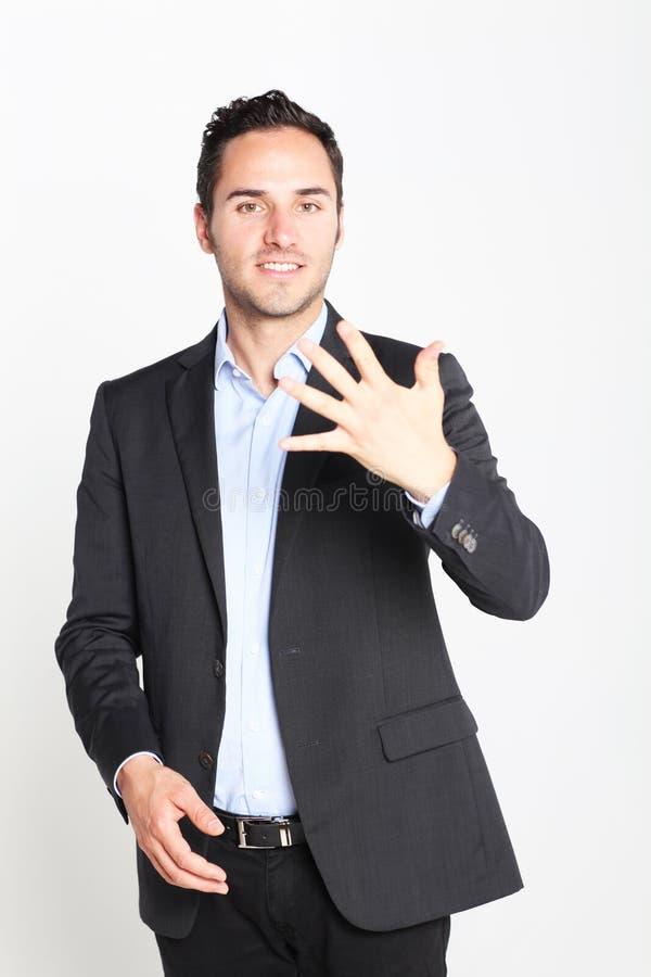 υπολογισμός πέντε αριθμ&omi στοκ φωτογραφία με δικαίωμα ελεύθερης χρήσης