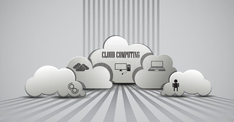 Υπολογισμός σύννεφων infographic ελεύθερη απεικόνιση δικαιώματος