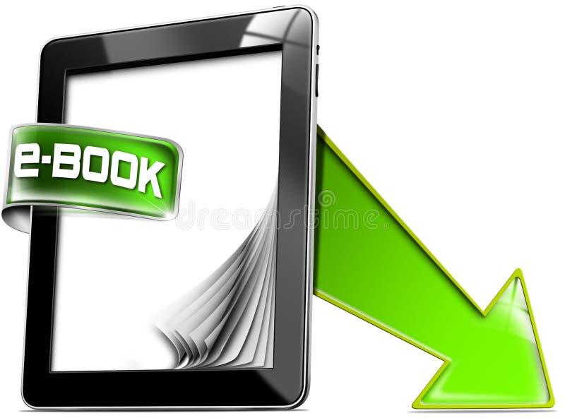 Υπολογιστές ταμπλετών - EBook διανυσματική απεικόνιση