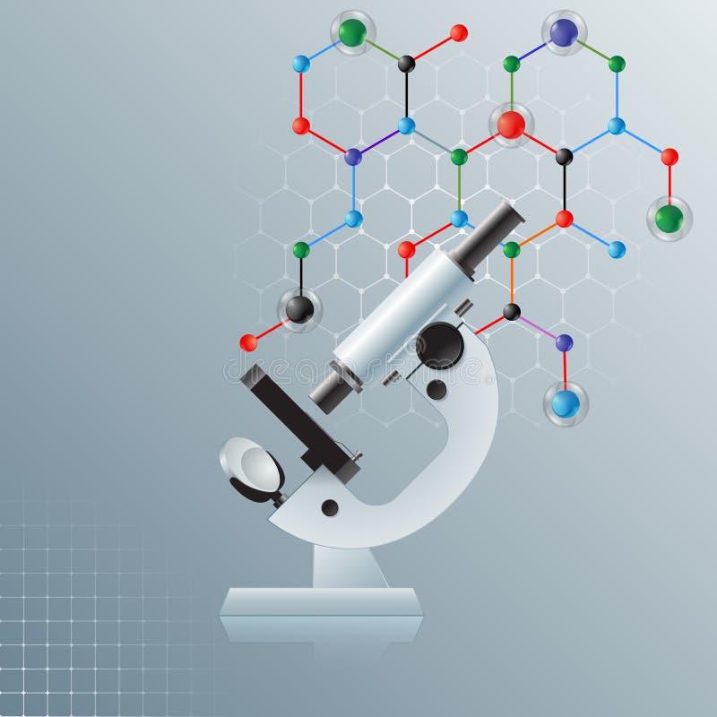 Υπολογιστής γραφικός, υπόβαθρο επιστήμης προτύπων με το μικροσκόπιο ελεύθερη απεικόνιση δικαιώματος
