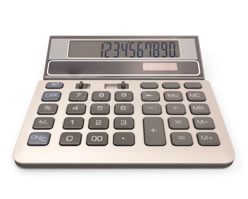 Υπολογιστής με τον αριθμό στην επίδειξη διανυσματική απεικόνιση