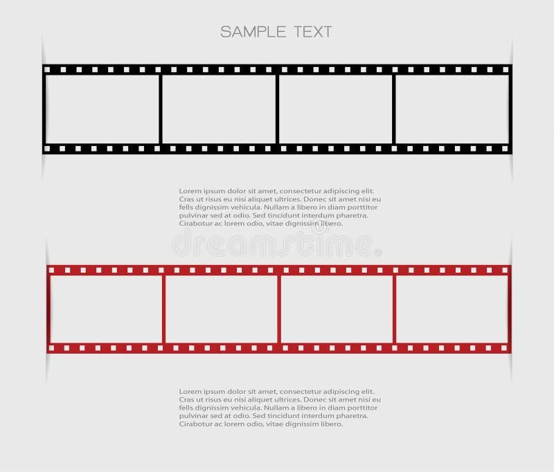Υπόβαθρα λουρίδων ταινιών διανυσματική απεικόνιση