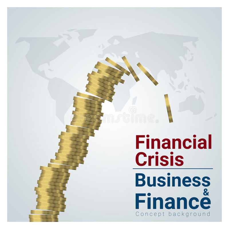 Υπόβαθρο έννοιας επιχειρήσεων και χρηματοδότησης με τη οικονομική κρίση ελεύθερη απεικόνιση δικαιώματος