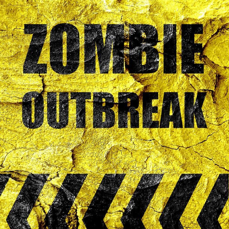 Υπόβαθρο έννοιας ιών Zombie ελεύθερη απεικόνιση δικαιώματος