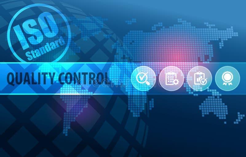 Υπόβαθρο έννοιας προτύπων του ISO ποιοτικού ελέγχου απεικόνιση αποθεμάτων