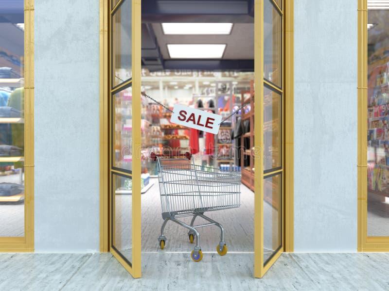 Υπόβαθρο έννοιας πώλησης αγορών στοκ εικόνες