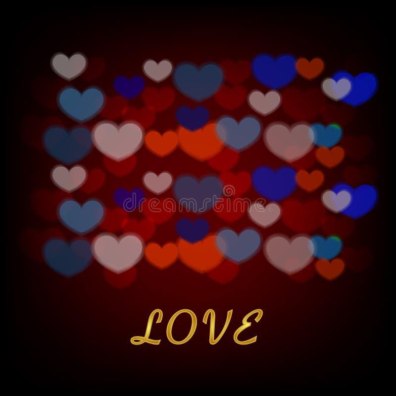 Υπόβαθρο αγάπης με τις καρδιές για την ημέρα και το γάμο του βαλεντίνου ελεύθερη απεικόνιση δικαιώματος