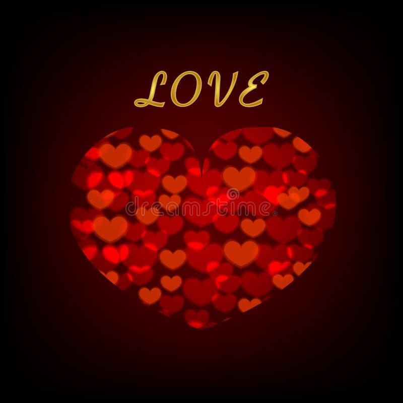Υπόβαθρο αγάπης με τις καρδιές για την ημέρα και το γάμο του βαλεντίνου διανυσματική απεικόνιση