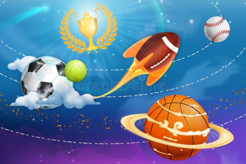 Υπόβαθρο αθλητικού κόσμου απεικόνιση αποθεμάτων