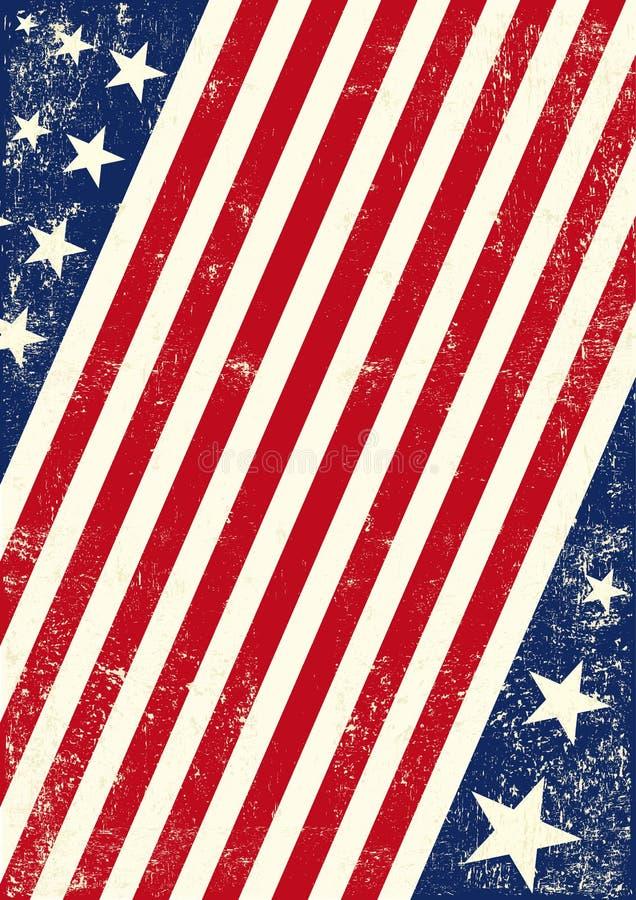 Υπόβαθρο αμερικανικών αμερικανικών σημαιών διανυσματική απεικόνιση