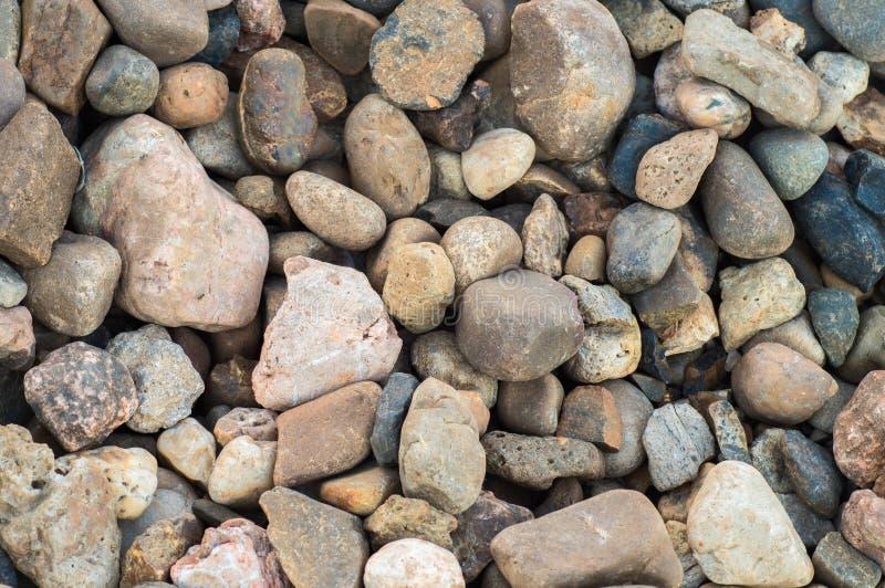 Υπόβαθρο αμμοχάλικου Κινηματογράφηση σε πρώτο πλάνο pebbels στοκ εικόνα