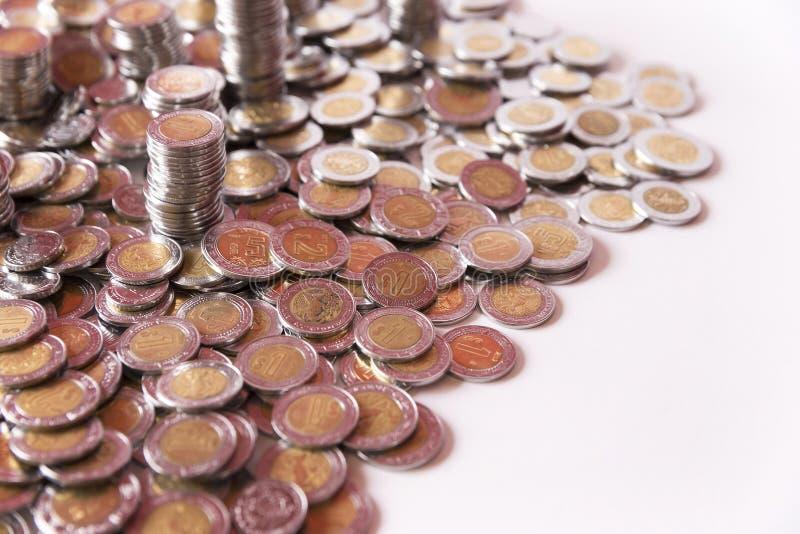 Υπόβαθρο αποταμίευσης νομισμάτων στοκ εικόνα