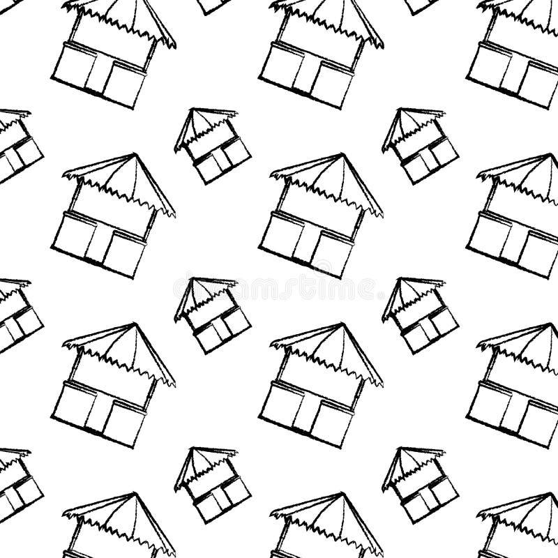 Υπόβαθρο αρχιτεκτονικής φύσης καλυβών αχύρου Grunge ελεύθερη απεικόνιση δικαιώματος