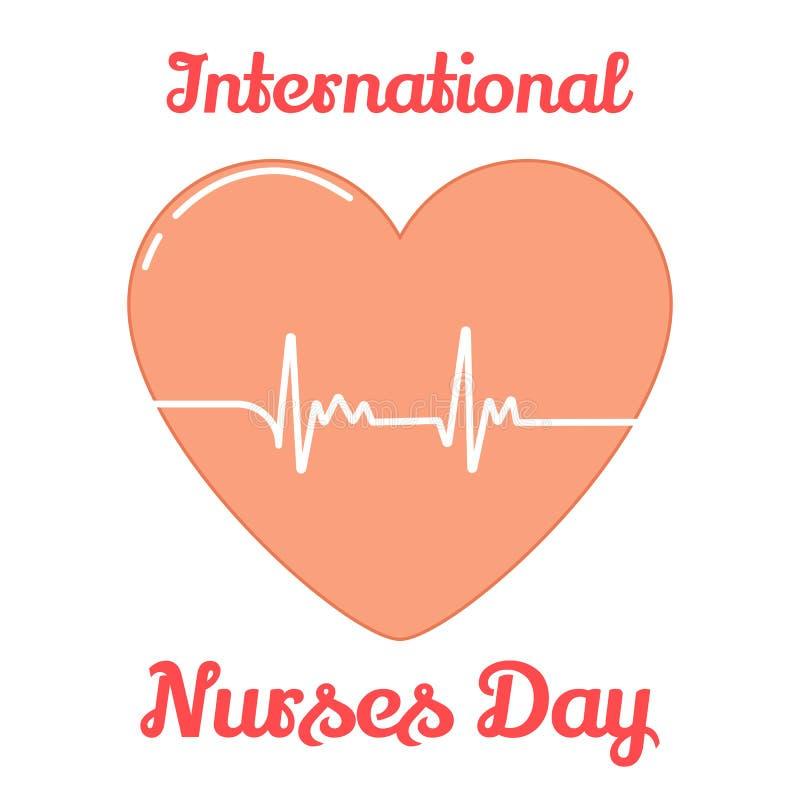 Υπόβαθρο για τη διεθνή ημέρα νοσοκόμων Η διανυσματική απεικόνιση για σας σχεδιάζει, κάρτα, έμβλημα, αυτοκόλλητη ετικέττα, αφίσα,  ελεύθερη απεικόνιση δικαιώματος