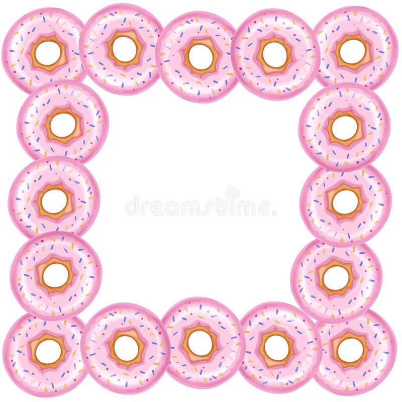 Υπόβαθρο για το κείμενό σας στο πλαίσιο των donuts απεικόνιση αποθεμάτων