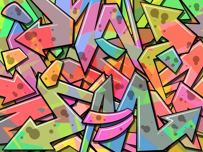 Υπόβαθρο γκράφιτι απεικόνιση αποθεμάτων