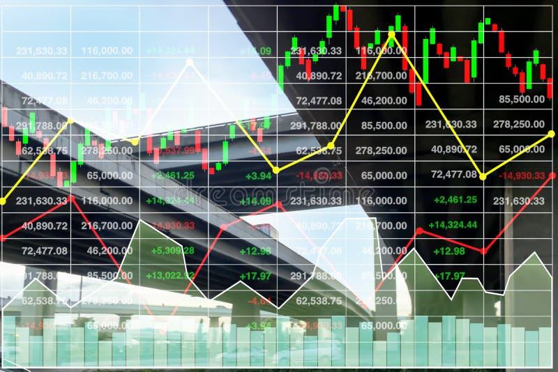 Υπόβαθρο δεικτών αποθεμάτων επιχειρησιακής χρηματοδότησης της επιχείρησης μεταφορών απεικόνιση αποθεμάτων