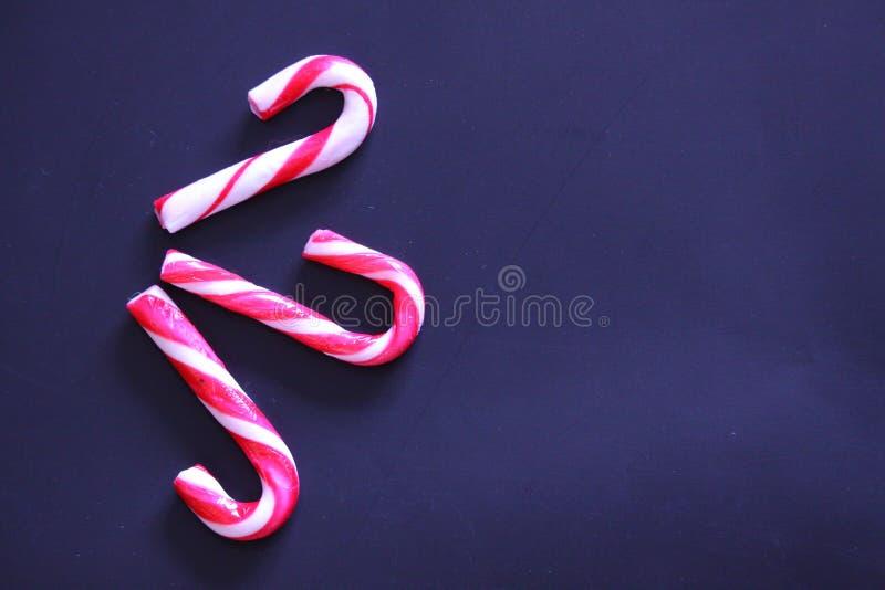 Υπόβαθρο διακοπών Χριστουγέννων Καραμέλες Χριστουγέννων στοκ εικόνες με δικαίωμα ελεύθερης χρήσης